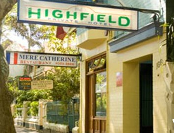 Highfield Private Hotel - Coogee Beach Accommodation